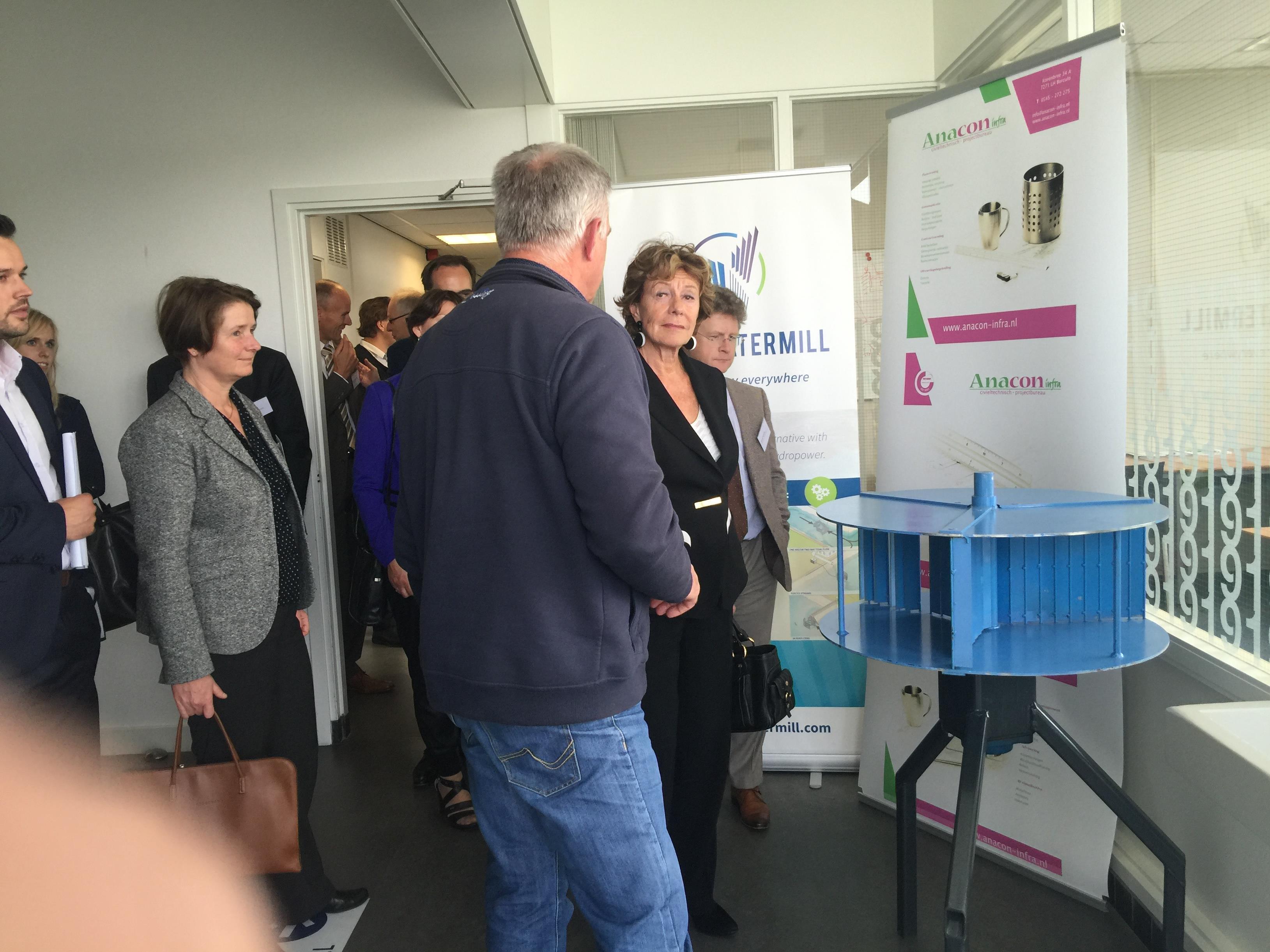 Neelie Kroes bezoekt Greenhouse