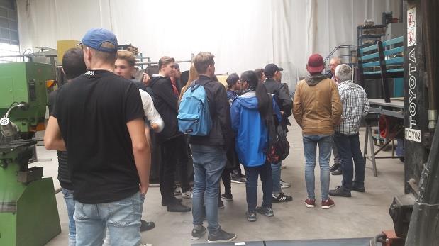 Bedrijfsbezoek door leerlingen van het Rijn IJssel College (Art & Design)