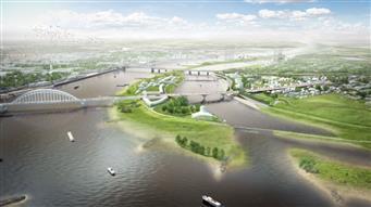Video van omroep Gelderland over de werkzaamheden aan de tafelconstructie en de Waalbrug