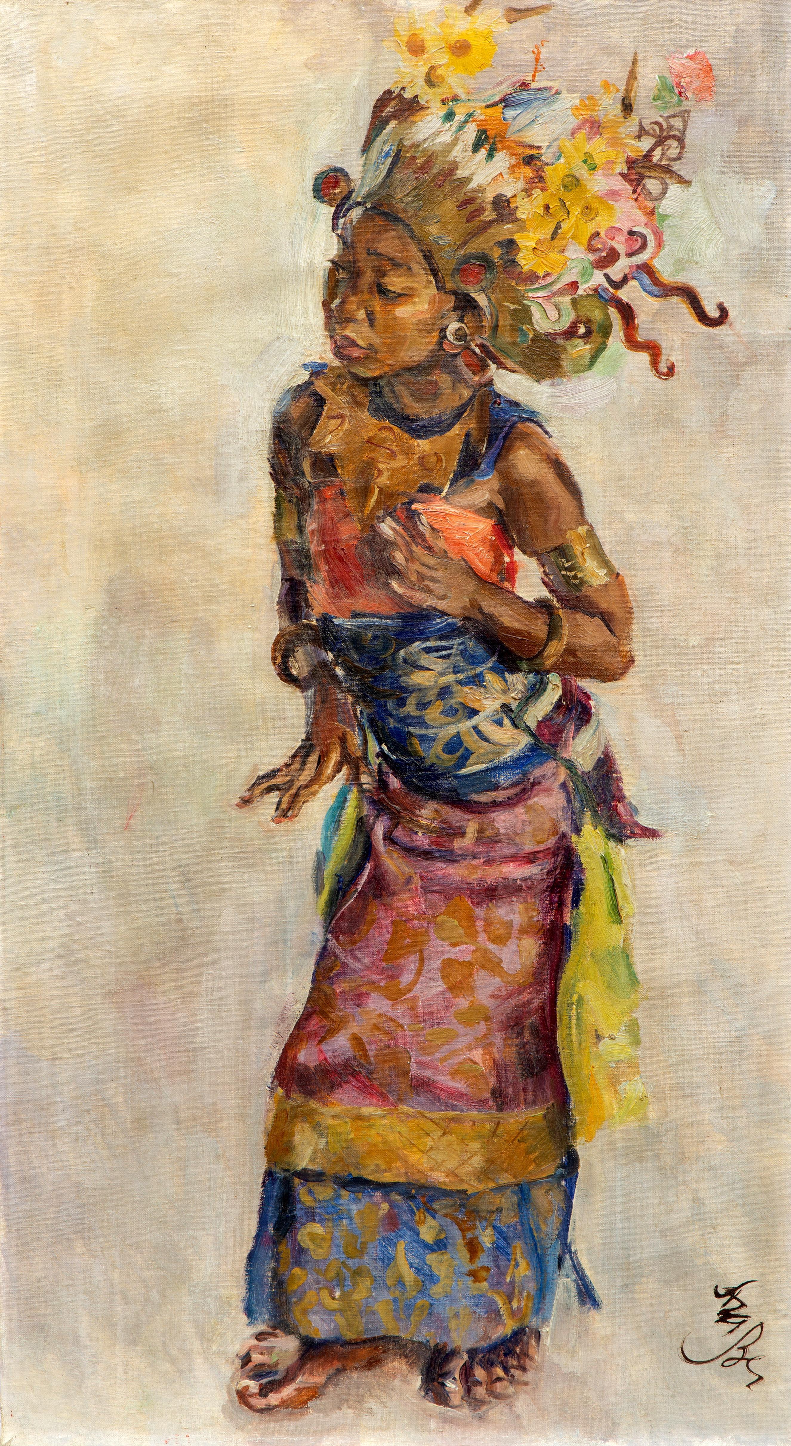 Roland Strasser (1895-1974) A Balinese Legong dancer