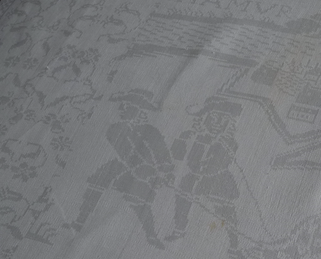 Antiekcheck | Detail 17de eeuwse damasten servet