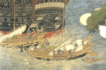 Het Japanse kamerscherm, over kimono's en Hollanders op Deshima