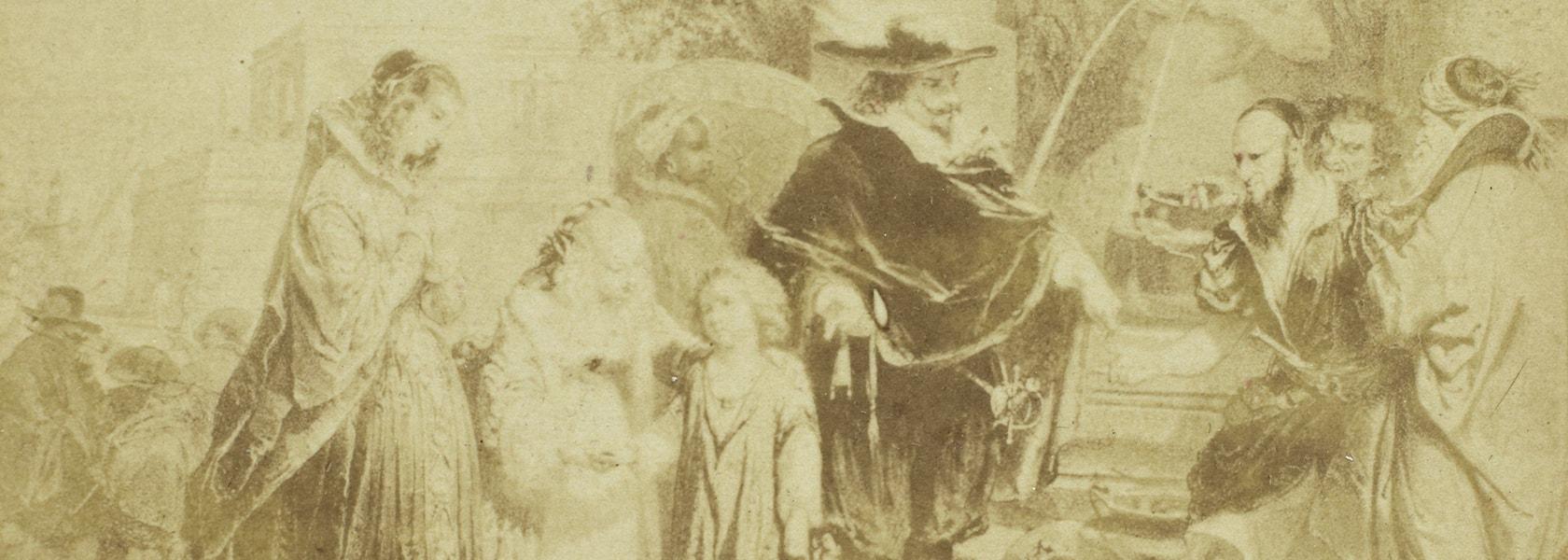 Litho van Henri Baron, Eduard Isaac Asser, ca. 1855