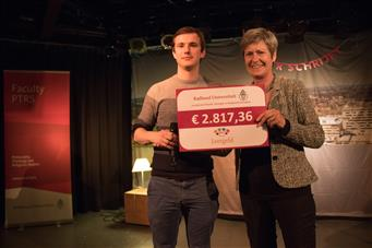 Stichting Leergeld ontvangt een cheque ter waarde van € 2.817,36 euro!