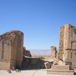 anau mosque remains near ashgabat