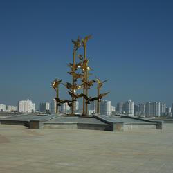 Ashgabat skyline